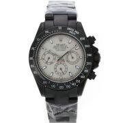Replique Rolex Daytona travail marqueurs nombre chronographe avec bracelet en cuir gris-ligne 4795