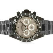 Replique Rolex Daytona de travail bleu index diamants chronographe avec du bleu de vadrouille et bracelet en cuir ligne 4796
