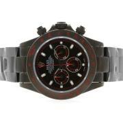 Replique Rolex Daytona travail chronographe numéro de dossier marqueurs d'or avec bracelet en cuir blanc d'accès à distance 4789