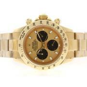 Replique Rolex Daytona chronographe travailler avec cadran noir et du bâton marqueurs lunette 4801