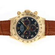 Replique Rolex Daytona chronographe de travail avec des marqueurs de dial-bâton d'argent 4802