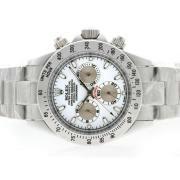 Replique Rolex Daytona chronographe de travail avec des marqueurs de dial-bâton d'argent 4806