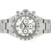 Replique Rolex Daytona chronographe de travail avec des marqueurs de dial-diamant gris 4807
