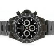 Replique Rolex Daytona travail diamant cz chronographe avec lunette cadran marqueurs numéro gris 4808