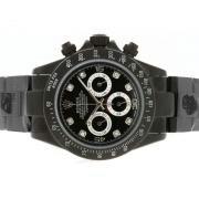 Replique Rolex Daytona plein chronographe en or de travailler avec des marqueurs d'accès à distance numéro bleu 4810