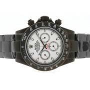 Replique Rolex Daytona Valjoux 7750 en Asie du chronographe en or avec bracelet en mouvement dial-cuir gris 4835
