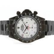 Replique Rolex Daytona Valjoux 7750 en Asie du chronographe mouvement avec bracelet en cuir bleu-ligne 4836