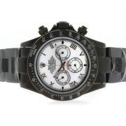 Replique Rolex Daytona Valjoux 7750 chronographe asie mouvement avec cadran argenté s / s 4983