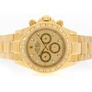 Replique Rolex Daytona chronographe automatique avec plein d'or lunette sertie de diamants cz cadran blanc 5615