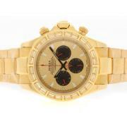 Replique Rolex Daytona chronographe automatique en or lunette sertie de diamants avec cadran pleine d'or 5662