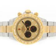 Replique Rolex Daytona Valjoux 7750 en Asie du chronographe en or 18 carats mouvement complet avec cadran blanc 5861