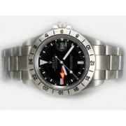 Replique Rolex GMT-Master ii automatique d'or plein carré bleu et rouge de diamants lunette avec cadran noir 15304
