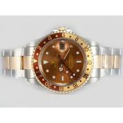Replique Rolex Datejust automatique de diamant d'or pleine de marquage avec cadran vert 12544