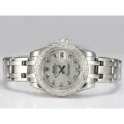 Replique Rolex Masterpiece automatique à trois diamants ton marquage avec une vadrouille cadran rose 14291