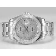 Replique Rolex Masterpiece automatique d'or plein de diamants avec cadran-romaine de marquage 14293