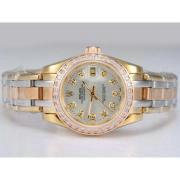 Replique Rolex Masterpiece automatique d'or plein de diamants avec cadran nombre de marquage 14285