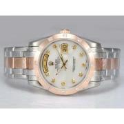 Replique Rolex Masterpiece automatique d'or lunette sertie de diamants pleine avec cadran bleu 14511