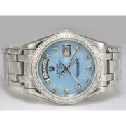 Replique Rolex Masterpiece automatique à trois tons avec lunette sertie de diamants et le cadran 14528