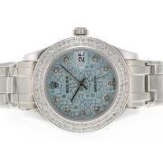 Replique Rolex Masterpiece eta suisse 2836 diamants mouvement de marquage et de la lunette avec cadran brun 5310