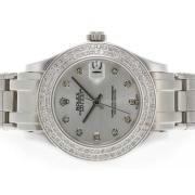 Replique Rolex Masterpiece eta suisse 2836 diamants mouvement de marquage et de la lunette avec une vadrouille cadran rose 5307