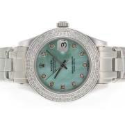 Replique Rolex Masterpiece eta suisse 2836 diamants mouvement de marquage et de la lunette avec cadran bleu clair 5308