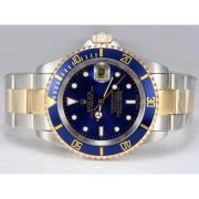 Replique Rolex Submariner automatique de diamant d'or pleine de marquage avec cadran or 13829