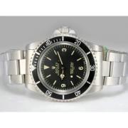 Replique Rolex Submariner automatique de diamant d'or pleine de marquage avec cadran gris 13830