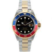 Replique Rolex Submariner automatique à deux tons bleu / rouge lunette avec cadran noir 8463