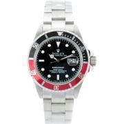 Replique Rolex Submariner automatique noir / rouge lunette avec cadran noir 8465