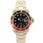 Replique Rolex Submariner automatique d'or noir complet / lunette rouge avec cadran noir 8908