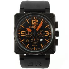 Replique Bell & Ross BR 01-94-Chronographe Boîtier PVD 46x46mm orange - Attractive Bell & Ross BR 01-94 Montre pour vous 39870