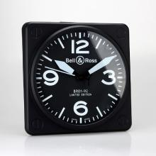 Replik Bell & Ross BR01-92 Wall Clock with White Markers 39660