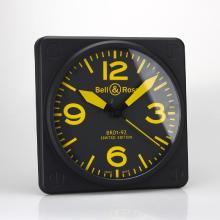 Replik Bell & Ross BR01-92 Wall Clock with Yellow Markers 39659