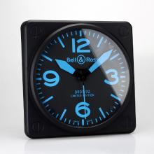 Replik Bell & Ross BR01-92 Wall Clock with Blue Markers 39658
