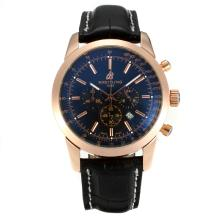 Replik Breitling Chronospace Working Chronograph Rose Gold Case Stick Markers with Black Dial-Leather Strap – Attractive Breitling Chronospace Watch for You 26378