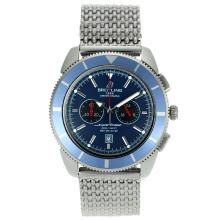 Replik Breitling Super Ocean Working Chronograph with Blue Dial S/S – Attractive Breitling Super Ocean Watch for You 26333