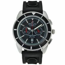 Replique Breitling Super Ocean travail Chronographe avec cadran noir-Bracelet Caoutchouc - Attractive Breitling Super Ocean Watch pour vous 26328