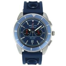 Replique Breitling Super Ocean travail Chronographe avec cadran bleu-bracelet en caoutchouc - Attractive Breitling Super Ocean Watch pour vous 26327
