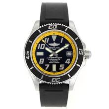 Replique Breitling Super Ocean Steelfish Swiss ETA 2824 Mouvement avec cadran noir-jaune Lunette intérieure - Attractive Breitling Super Ocean Watch pour vous 26321