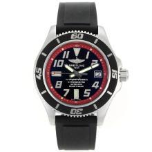 Replique Breitling Super Ocean Steelfish Swiss ETA 2824 Mouvement avec cadran noir-Lunette intérieure Rouge - Attractive Breitling Super Ocean Watch pour vous 26317
