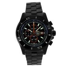 Replique Breitling Super Ocean Chronograph de travail complet PVD avec cadran noir-orange Aiguilles - Attractive Breitling Super Ocean Watch pour vous 26284