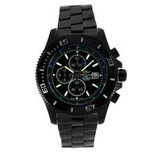 Replique Breitling Super Ocean Chronograph de travail complet PVD Cadran Noir-Argent Aiguilles - Attractive Breitling Super Ocean Watch pour vous 26283