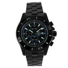 Replique Breitling Super Ocean Chronograph de travail complet PVD noir Cadran-Bleu Aiguilles - Attractive Breitling Super Ocean Watch pour vous 26281