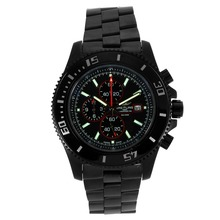 Replique Breitling Super Ocean Chronograph de travail complet PVD avec cadran noir-rouge Aiguilles - Attractive Breitling Super Ocean Watch pour vous 26280