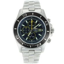 Replik Breitling Super Ocean Working Chronograph Black Bezel with Black Dial S/S-Yellow Needles – Attractive Breitling Super Ocean Watch for You 26272
