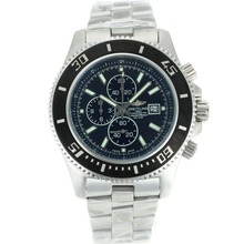 Replik Breitling Super Ocean Working Chronograph Black Bezel with Black Dial S/S-Silver Needles – Attractive Breitling Super Ocean Watch for You 26271