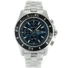 Replik Breitling Super Ocean Working Chronograph Black Bezel with Black Dial S/S-Blue Needles – Attractive Breitling Super Ocean Watch for You 26270