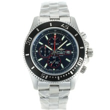 Replik Breitling Super Ocean Working Chronograph Black Bezel with Black Dial S/S-Red Needles – Attractive Breitling Super Ocean Watch for You 26269