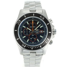 Replik Breitling Super Ocean Working Chronograph Black Bezel with Black Dial S/S-Orange Needles – Attractive Breitling Super Ocean Watch for You 26268