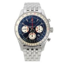 Replique Breitling Montbrillant chronographe suisse Valjoux 7750 Mouvement marqueurs de bâton avec Dial S / S-verre de saphir noir - Attractive Breitling Montbrillant montre pour vous 26265